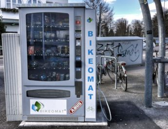 Der Bikeomat am Reutlinger Hauptbahnhof