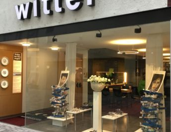 Schaufensterfront von Wittel Optik