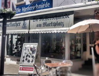 Die Messerschmiede Gottlob Brucklacher in der Katharinenstrasse Reutlingen wird 130