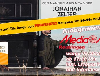 Akustik-Konzert mit Jonathan Zelter bei Media Markt Reutlingen