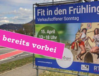 """"""" Fit in den Frühling """" - Motto des 1. verkaufsoffenen Sonntag 2018 in Reutlingen"""
