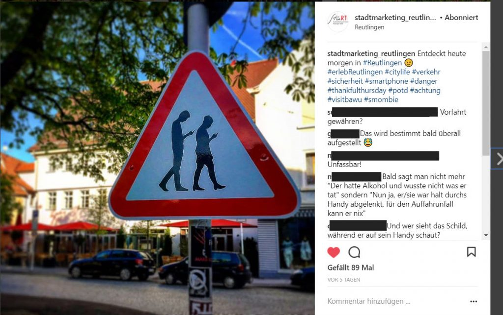 Instagram Post des StaRT Stamarketing