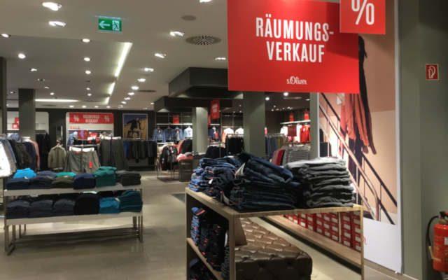Räumungsverkauf bei S. Oliver in der Wilhelmstrasse. Am 7.7.18 schließt die Filiale in Reutlingen