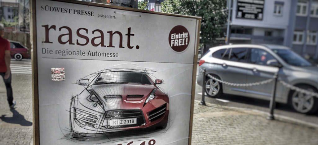 Rasant – Automesse auf dem Bösmannsäcker