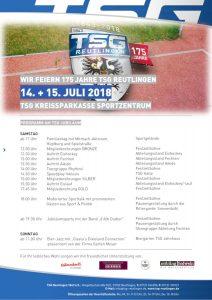 Programm zum 175-jährigen TSG Jubiläum
