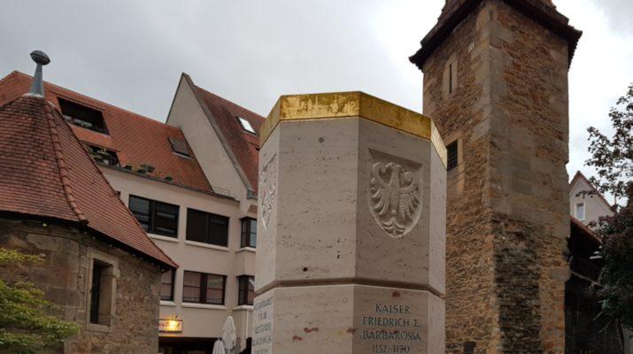 Die 38. Stauferstele steht seit September 2018 in Reutlingen
