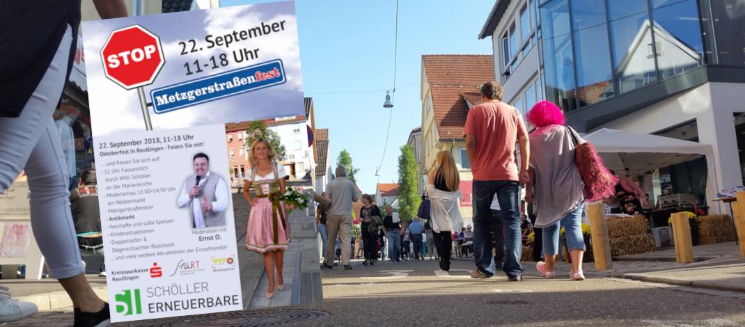 Geschäfte in der Metzgerstrasse laden zum Metzgerstrassenfest