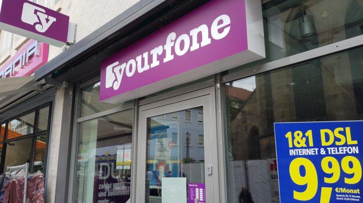 Yourfone Store in Reutlingen seit September geschlossen