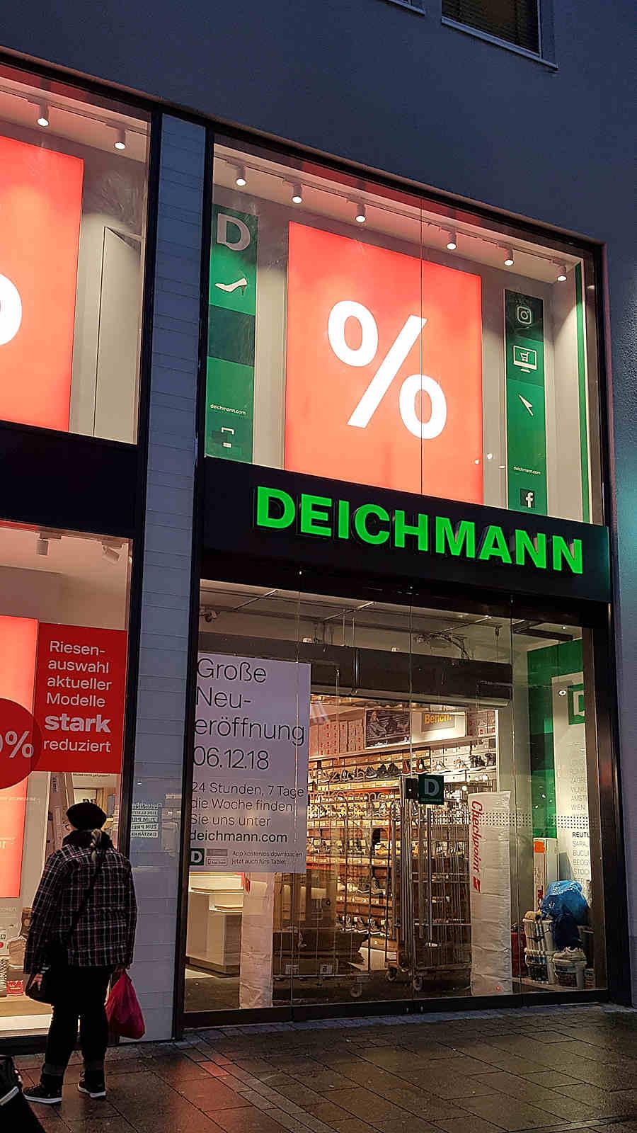 Umzug abgeschlossen neue Deichmann Filiale in Reutlinger
