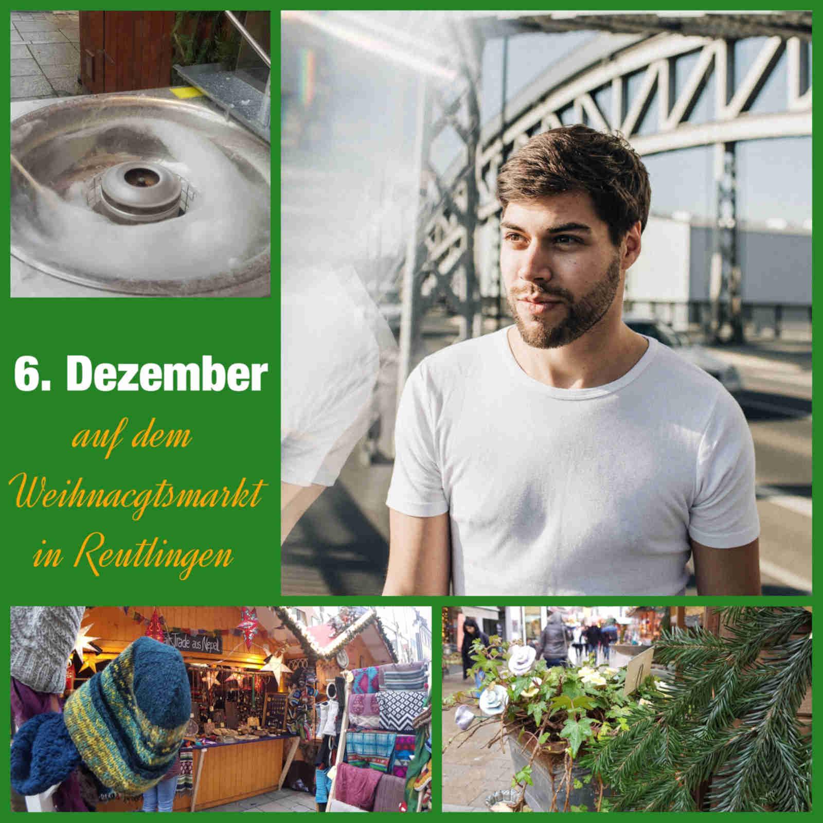 Jonnes singt am 6.12.2018 auf dem Weihnachtsmarkt