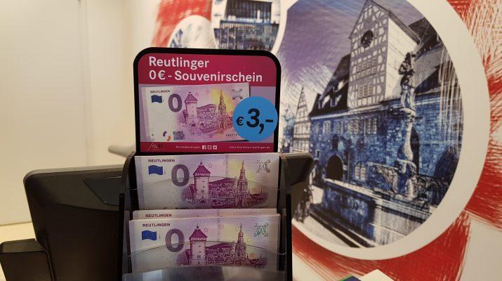 Seit 7. Februar ist der 0 Euro Schein in Reutlingen erhältlich