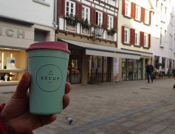 Jetzt in Reutlingen Coffee-to-go im Recup Mehrwegbecher