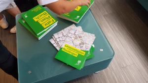 Fahrplanbuch und Liniennetzplan des neuen RSV Stadtbusnetz