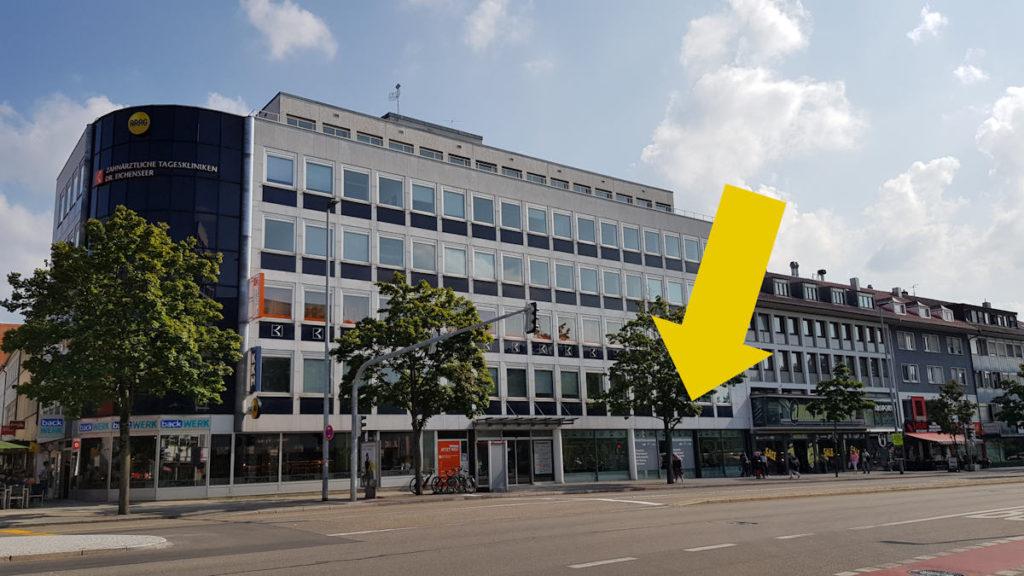 Zentral gelegen in der Eberhardstraße die RSV-Mobilitätszentrale