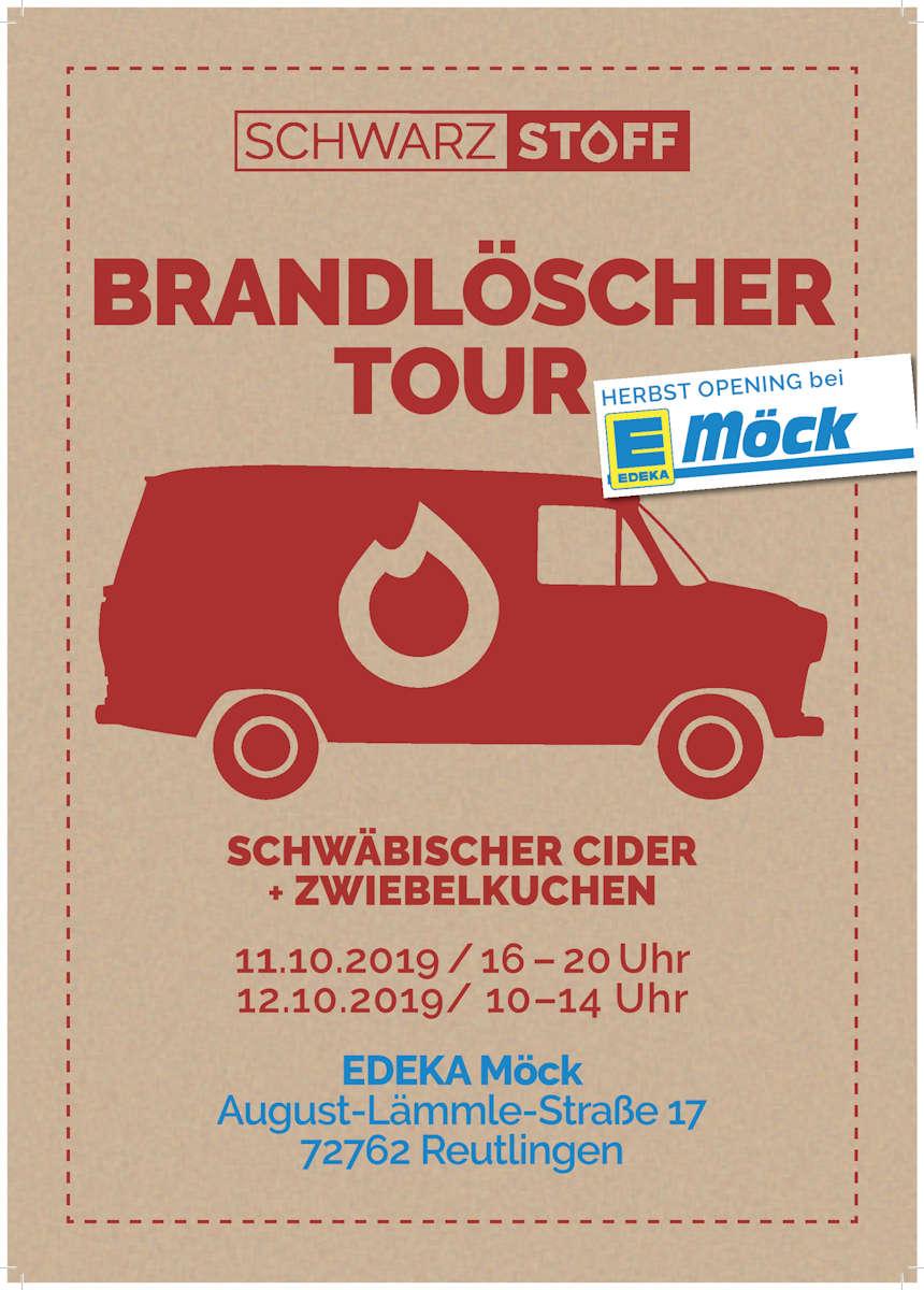 Plakat zur Brandlöscher Tour von Schwarzstoff