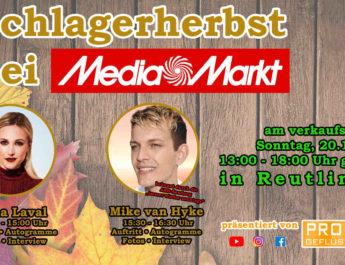 Schlagerherbst bei Mediamarkt am verkaufsoffenen Sonntag, 20.10.2019