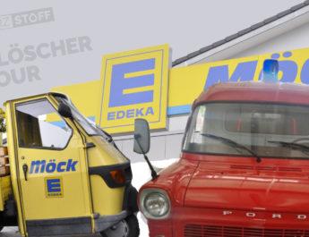 Brandlöscher-Tour: Schwarzstoff-Mobil meets Möck-Ape