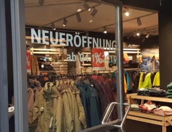 Vaude Store Neueröffnung in Reutlingen